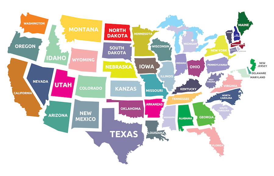 MMem 0162: Memorizing the position of US states (with time zones ...