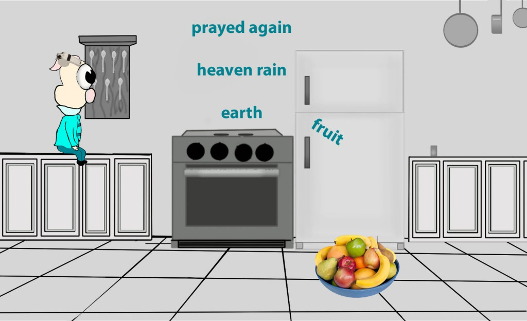 Then he prayed again, and heaven gave rain, and the earth bore its fruit.