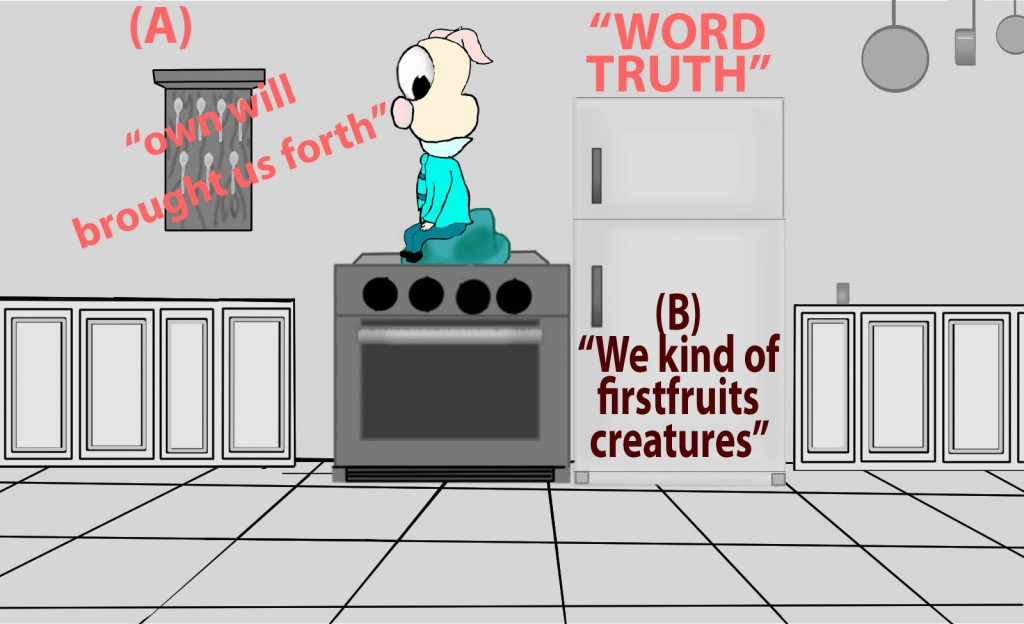 Of his own will he brought us forth by the word of truth, that we should be a kind of firstfruits of his creatures.