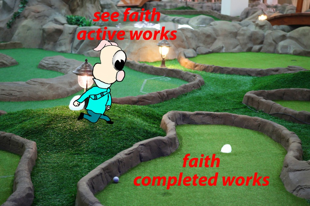 You see that faith was active along with his works, and faith was completed by his works;