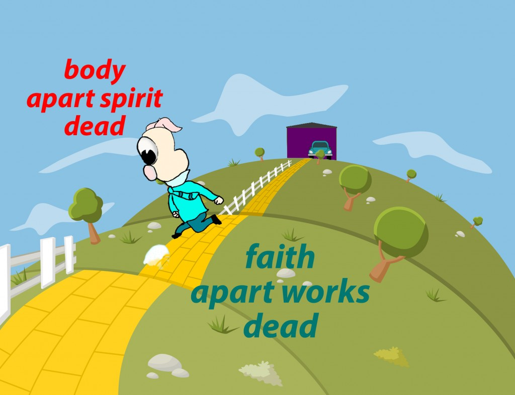 For as the body apart from the spirit is dead, so also faith apart from works is dead.
