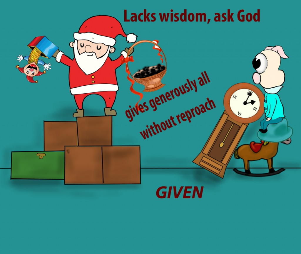 If any of you lacks wisdom, let him ask God, who gives generously to all without reproach, and it will be given him.