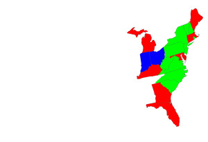 Memorize Eastern US states by time zone (memorizing US states)
